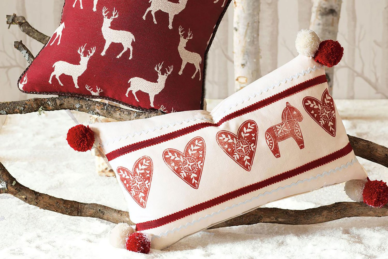 Prints that scream Christmas helps your home look right for the holiday. Get them on cushion covers, throws and bedsheets! The kids are going to love it!