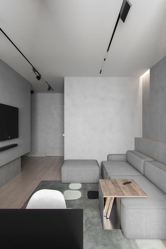 Grey also make a good colour for minimalist interior design