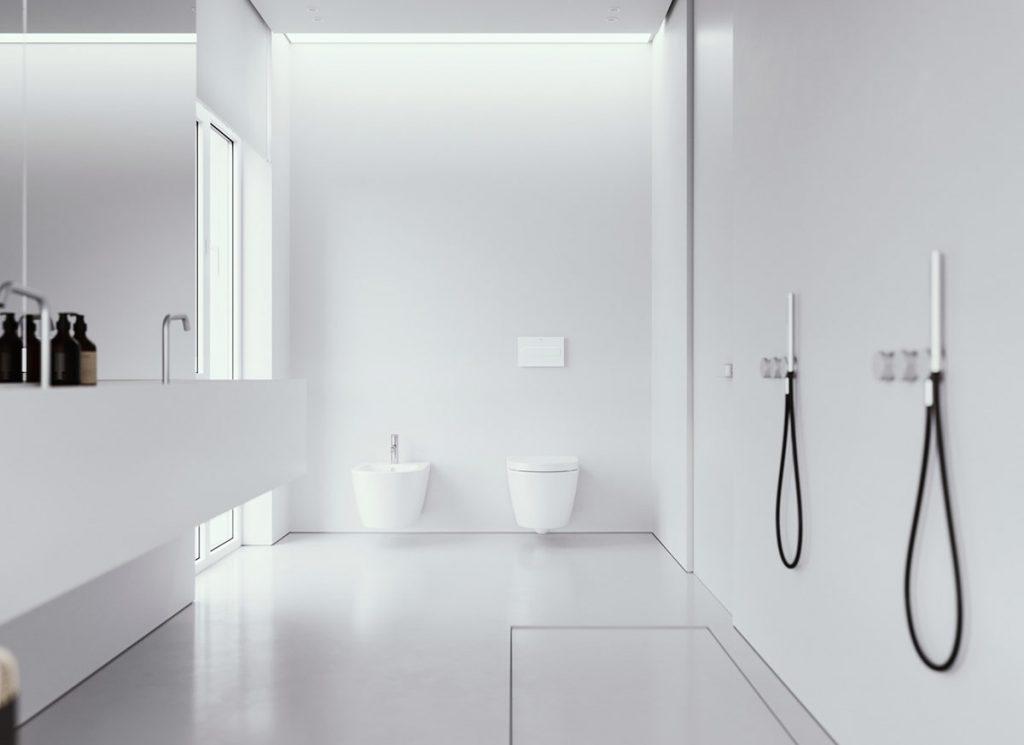 White bathroom, simple design