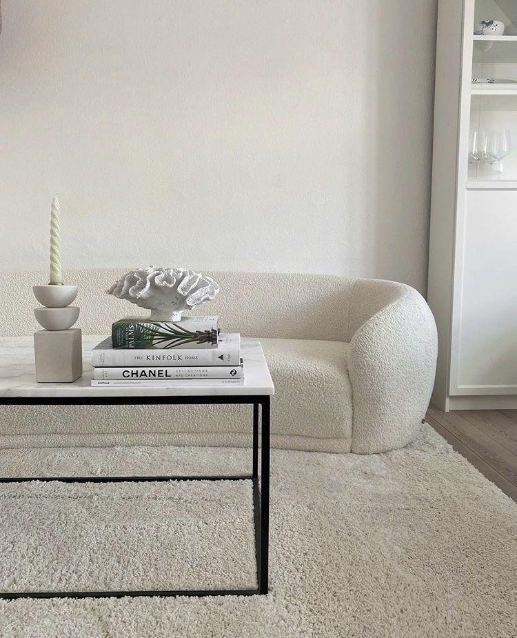 Minimalist interior design for white living rooms