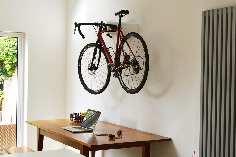 Great storage idea for bicycles while saving floor space in the house
