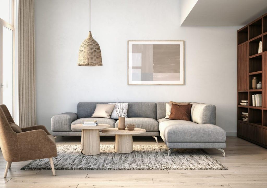 Simple Scandinavian living room