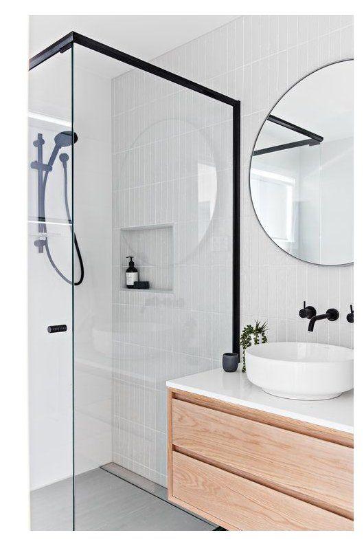 Simple Scandinavian-themed bathroom