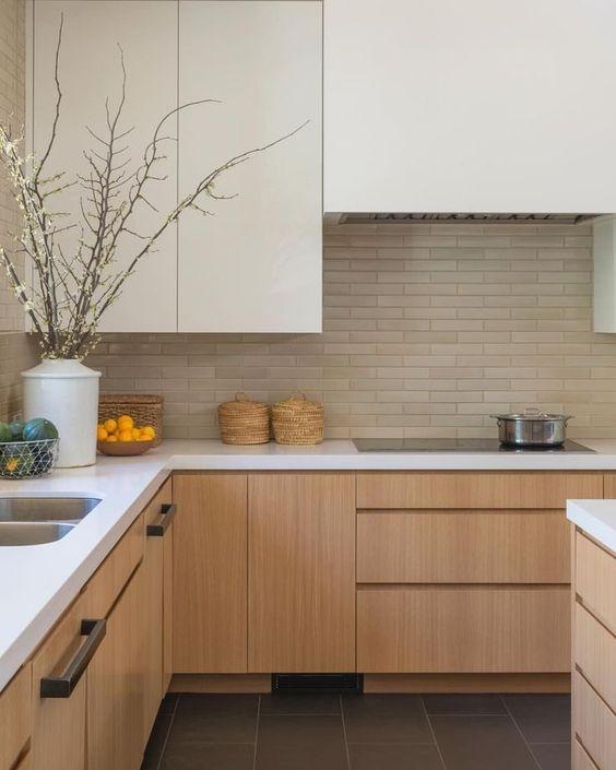 Light coloured kitchen in Scandinavian homes