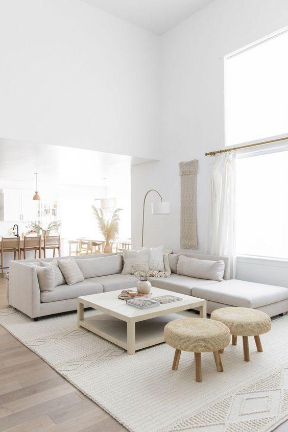 Living room with Scandinavian interior