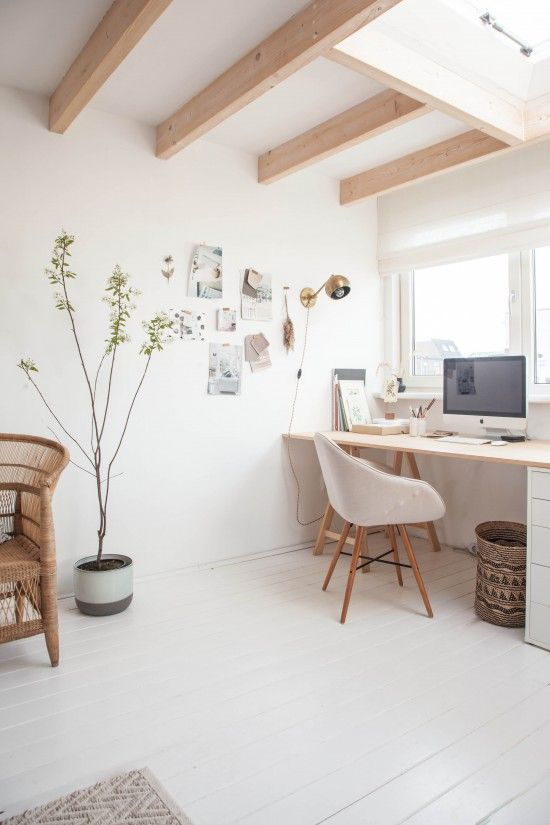 Airy work space creates a peaceful environment to work in