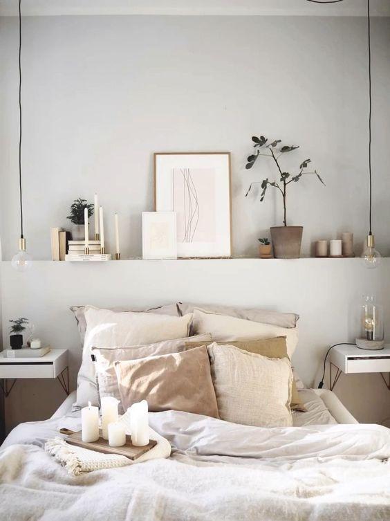 Cosy and inviting Scandinavian bedroom