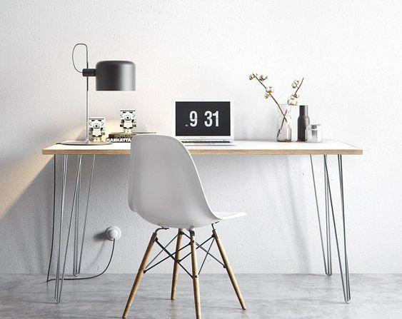 Uncomplicated work space in Scandinavian-designed homes