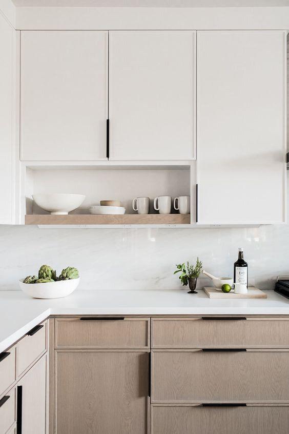 Beautiful light wood in Scandinavian kitchens