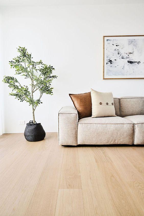 Uncluttered Scandinavian living room